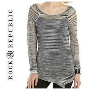 Rock & Republic Space Dye Sweater  L EUC